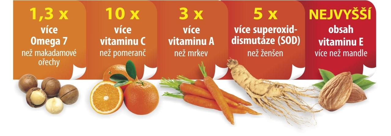 vitamin A C E Omega 7