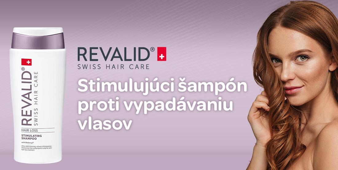 Revalid stimulating shampoo, stimulačný šampón, proti vypadávaniu vlasov, redensyl, pantenol