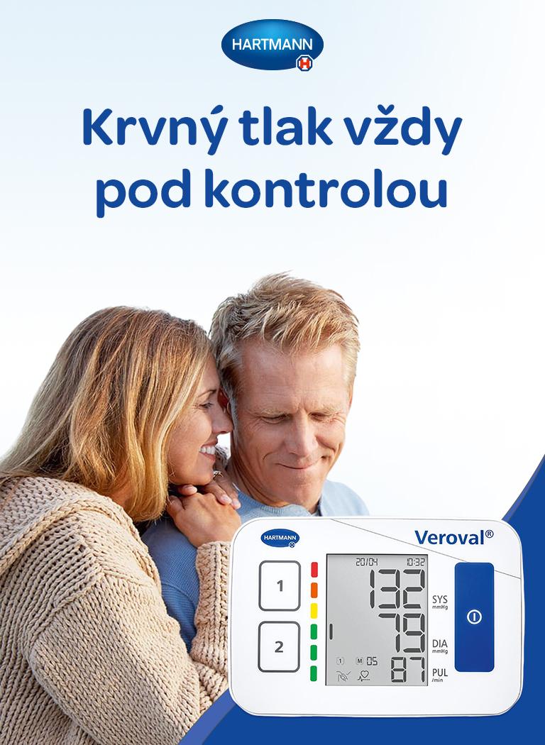 Veroval compact, BPU22, domácí tlakoměr, pamět pro dvě osoby, jednoduché ovládání, technologie comfort air, přehledný displey