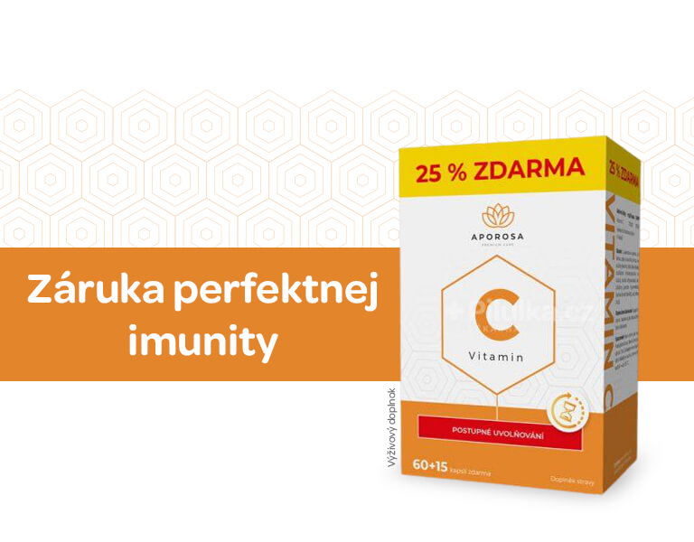 doplněk stravy, vitamin C, postupné uvolňování, Aporosa, banner