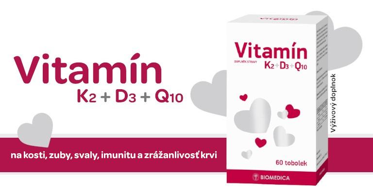 Vitamín K2, Vitamín D3, Vitamín Q10