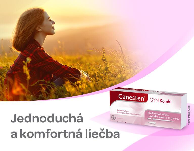 Canesten Kombi vaginální tableta a krém, banner