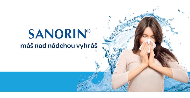 Sanorin® ví, jak S RÝMOU SE PRÁT, Sanorin 0,5 ‰ nosové kvapky 10ml