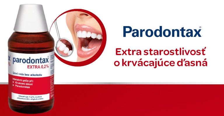 krvácení dásní, parodontax, ústní voda pro zdravé dásně