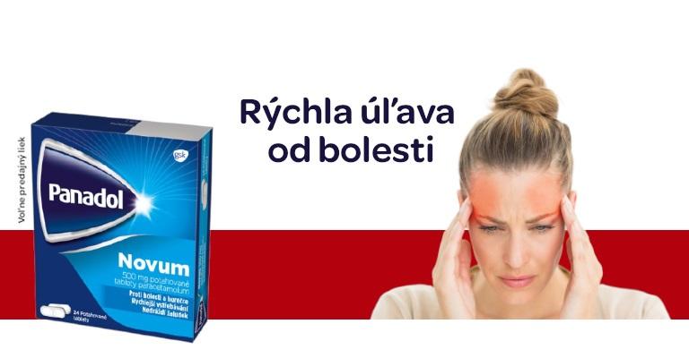Panadol Novum, Panadol liečivo proti bolesti, pri príznakoch chrípky a prechladnutia