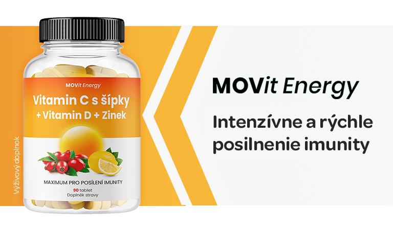 Movit energy, Vitamin C, šípek, Vitamín D, zinek