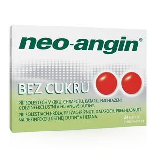 Neo-angin bez cukru tvrdé pastilky 24 ks