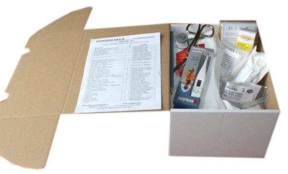 Panacea NÁPLŇ do nástennej lekárničky ŠPECIAL F v papierovej kartónovej krabici