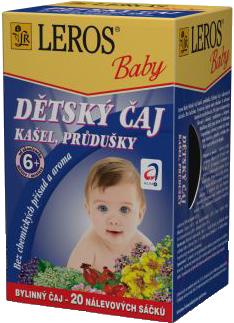 LEROS BABY DETSKÝ ČAJ NA KAŠEL A PRIEDUŠKY 20x1 5 g
