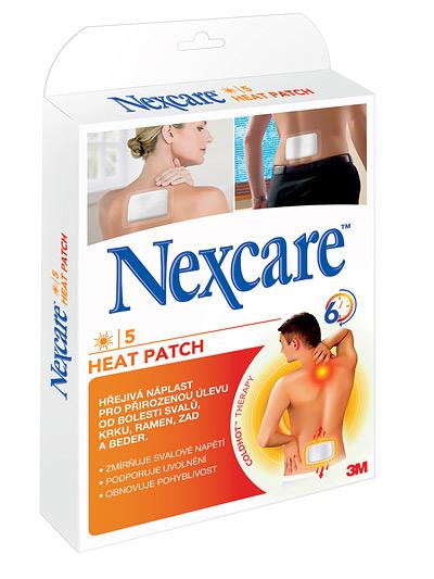 3M Nexcare HEAT PATCH, Náplasť hrejivá [SelP] 9,5x13 cm, 1x5 ks