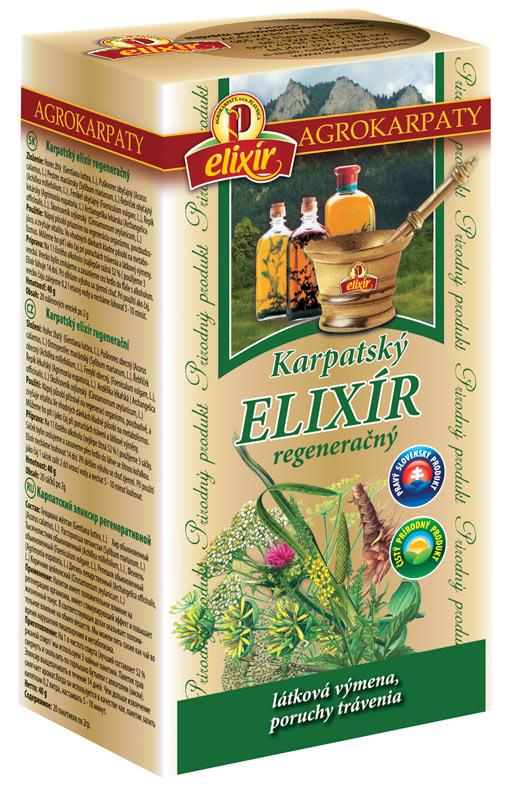 AGROKARPATY Karpatský ELIXÍR čaj regeneračný 20x2 g