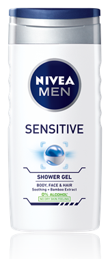NIVEA MEN SPRCHOVÝ GÉL Sensitive 250 ml