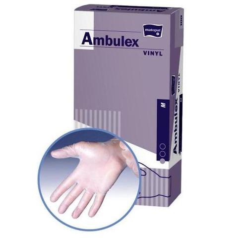 Ambulex rukavice VINYLOVÉ veľ. S, nesterilné, nepúdrované 100 ks