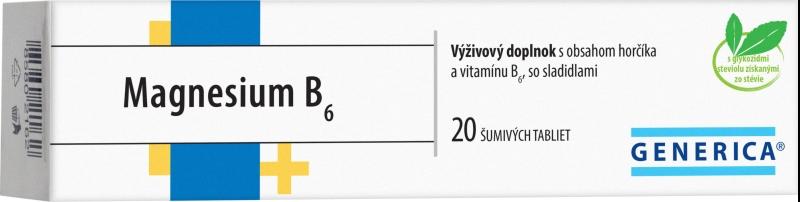 GENERICA MAGNESIUM B6 šumivé tablety 20 ks
