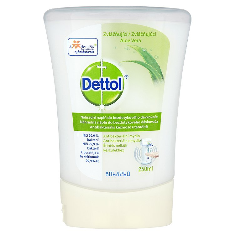 Dettol náplň do bezdotykového dávkovača mydla Aloe Vera a Vitamín E 250 ml