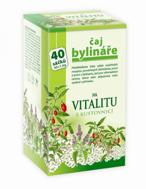 Čaj bylinkára na vitalitu s kustovnicou 40 sáčkov