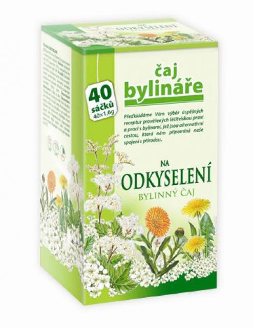 Čaj bylinkára na odkyslenie organizmu 40 sáčkov