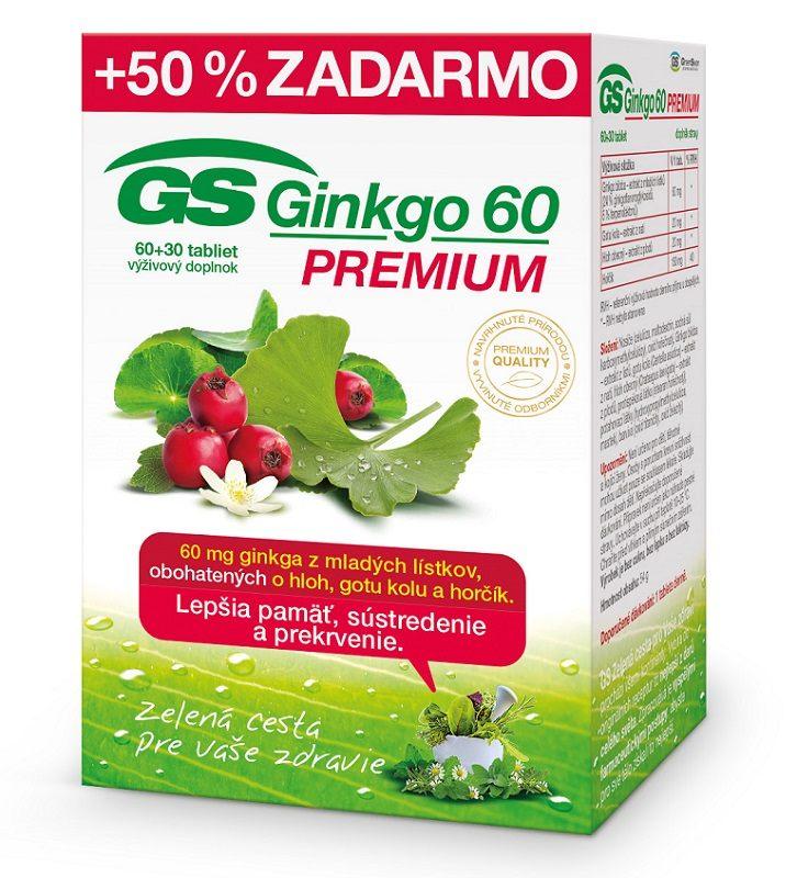 GS Ginkgo Premium 60, tbl. 60+30