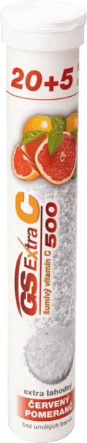GS Extra C 500 šumivý červený pomaranč tbl eff 20+5 navyše