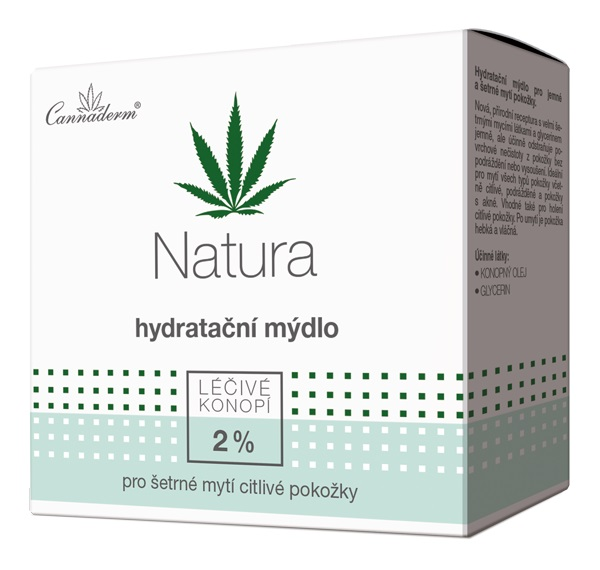 Cannaderm NATURA hydratačné mydlo citlivá pokožka 100 g