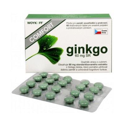 ginkgo COMFORT 60 mg SR - Woykoff tbl 1x60 ks