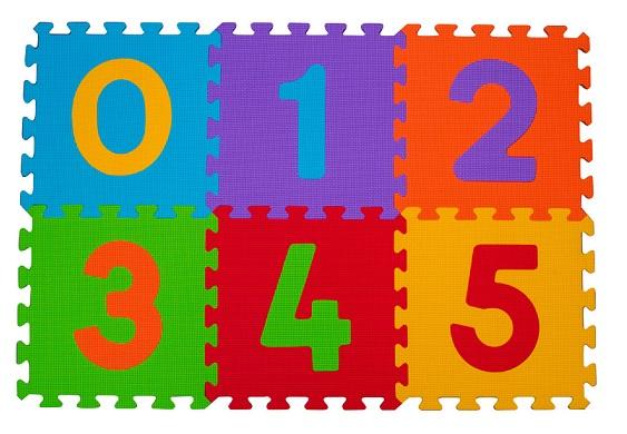 Puzzle penové číslice 6ks, 6m+ BabyOno