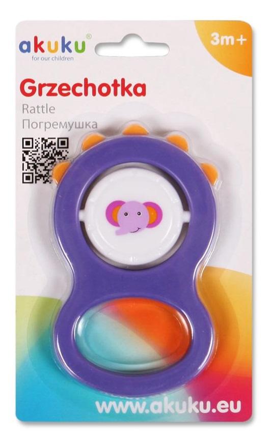 Detská hrkálka Akuku fialová