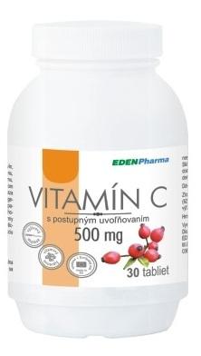 EDENPharma vitamín C 500mg s postupným uvoľňovaním 30 tabliet