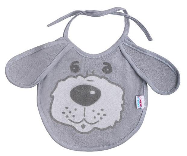 Detský podbradník New Baby šedý