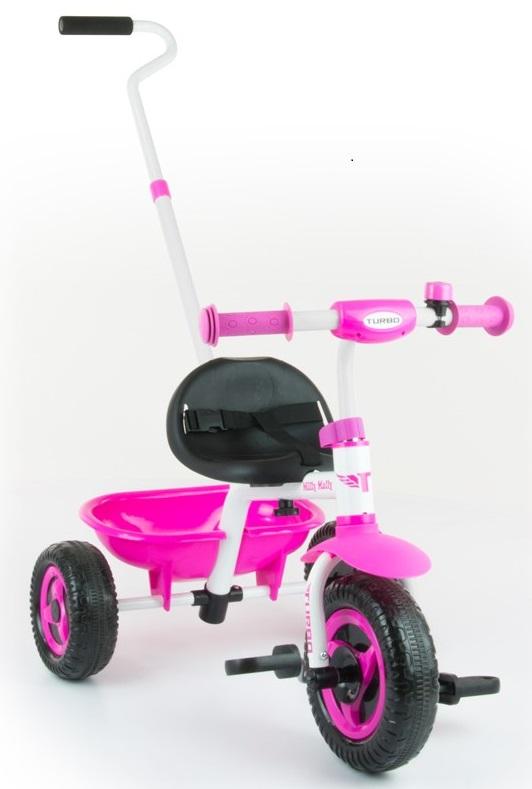 Detská trojkolka Milly Mally Boby TURBO pink