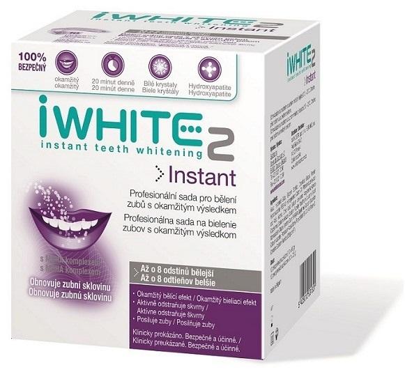 iWHITE 2 Instant Sada na bielenie zubov gélom naplnené aplikátory 10 ks