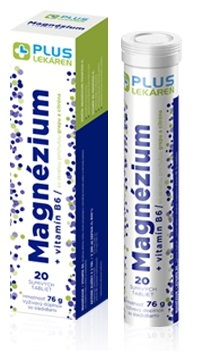 Plus Lekáreň Magnézium + vitamín B6 tbl eff s príchuťou grepu a citróna 20 ks
