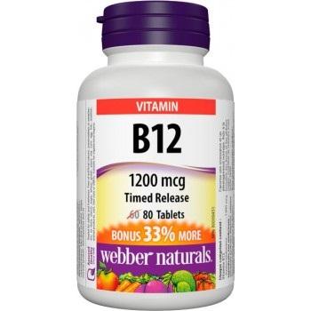 Webber Naturals Vitamin B12 1200 mcg tbl 80 ks