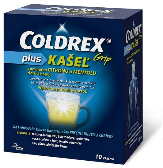 COLDREX Grip plus KAŠEĽ citrónmentol 10ks