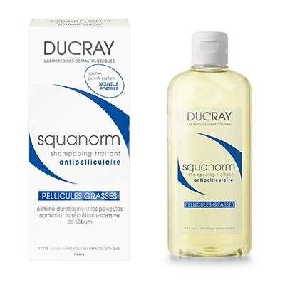 DUCRAY SQUANORM - Šampón proti mastným lupinám 200 ml