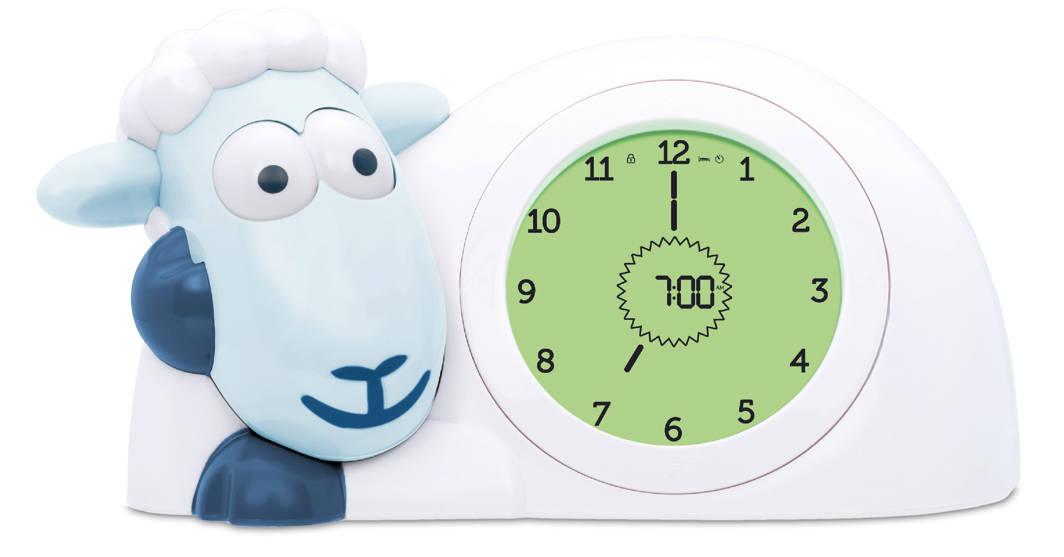 Ovečka SAM modrá - tréningový budík s nočným svetlom