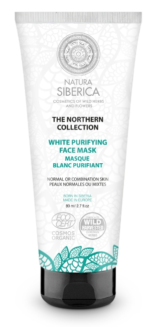 Severská biela čistiaca maska na tvár 80ml