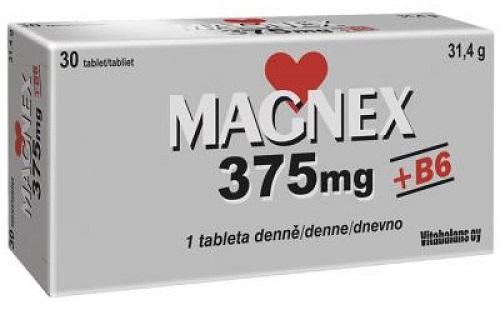 Magnex 375 mg + B6 30 tbl
