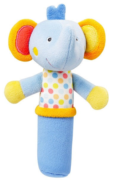 NUK Pískatko do ruky Sloník hračka pre deti od 3. mesiaca 1x1 ks