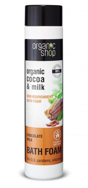 organic shop - čokoládové mlieko - pena do kúpeľa 500ml