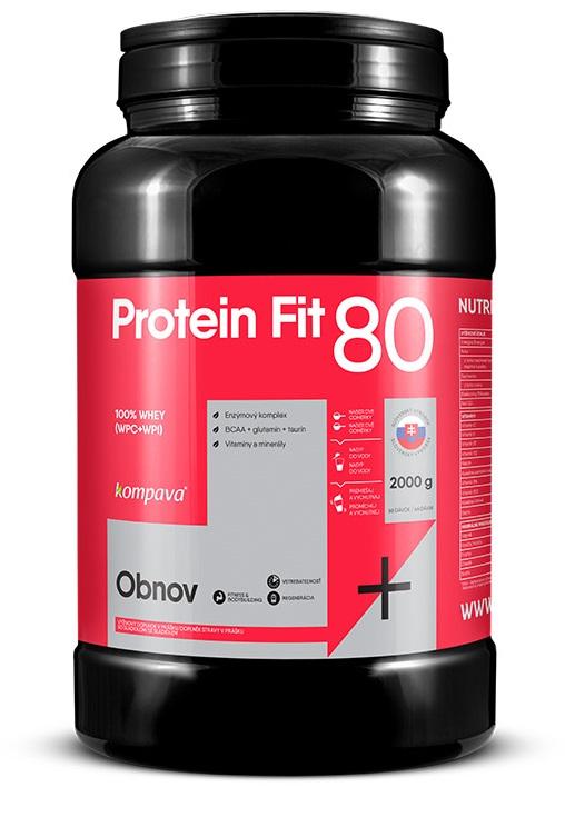 ProteinFit 80 2000g banán