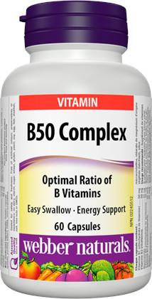 Webber Naturals B Komplex 50 mg cps 60+20 zadarmo