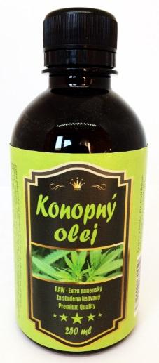 Extra panenský konopný olej 250ml
