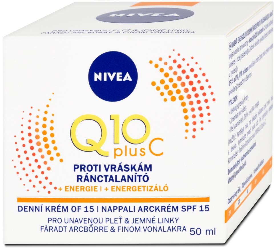 Nivea Q10 Plus C Energizujúci denný krém proti vráskam OF 15 50ml