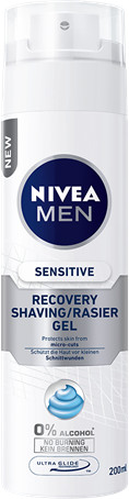 Nivea Men Gel na holení Sensitive Recovery 200ml