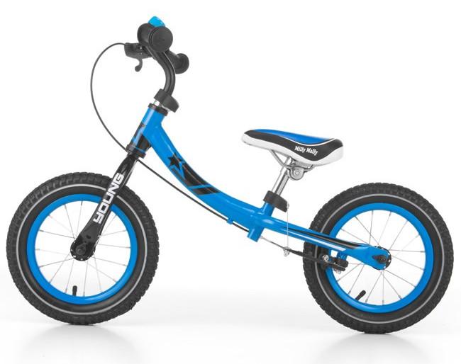 Detské odrážadlo bicykel Milly Mally Young blue