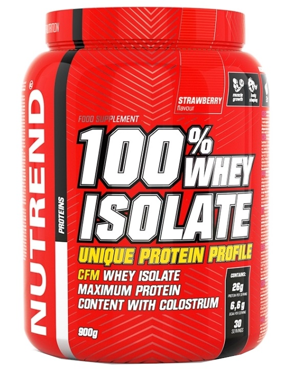NUTREND 100% WHEY ISOLATE 900g jahoda