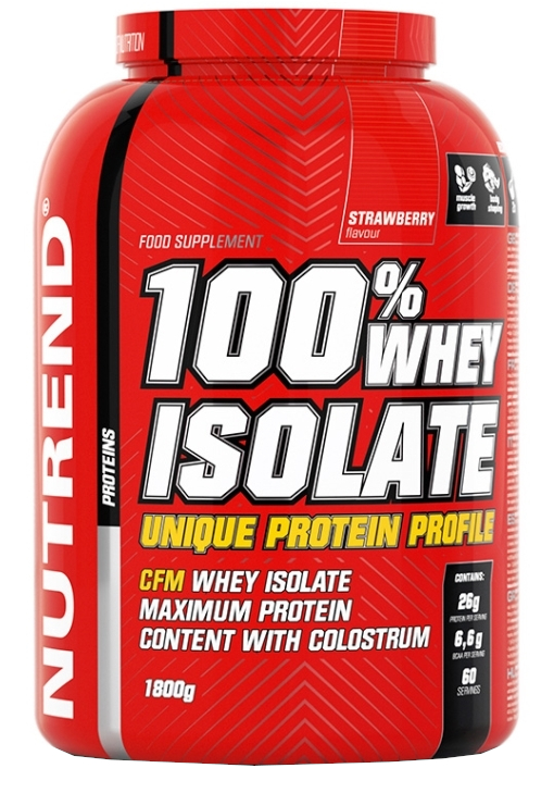 Nutrend 100% WHEY ISOLATE 1800g jahoda