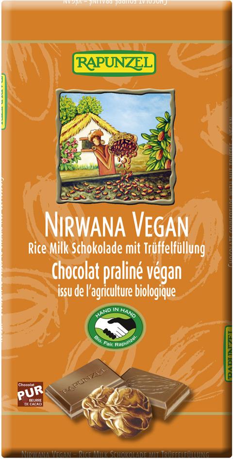 Rapunzel Bio Nirwana Vegan čokoláda s náplňou 100g