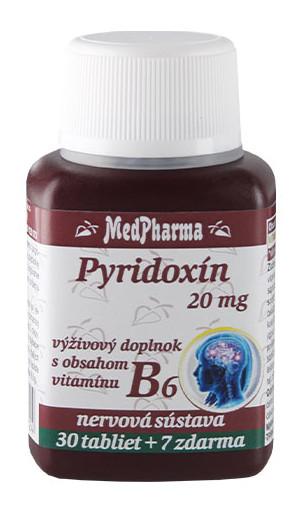 MedPharma Pyridoxín 20mg 30+7tbl zadarmo